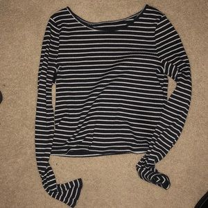 Blue and white striped crop top!